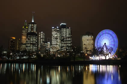 What is current time in Melbourne, Australia? Check Melbourne actual time, DST, GMT offset, daylight saving time Current time in Melbourne. Melbourne. 8 48 28 am. Thursday, October 11, Announce upcoming event time in Melbourne.